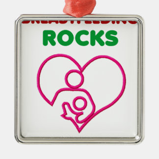 breast feeding rocks, mom with baby christmas ornament