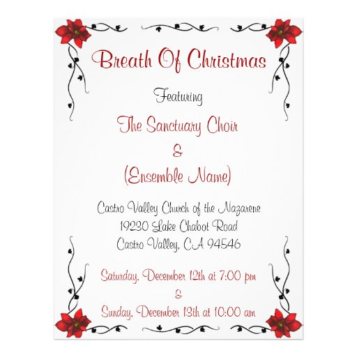 Breath Of Christmas Flyer