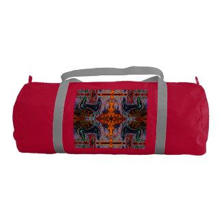 Breath of Fire Red Kundalini Yoga Print by Deprise Gym Duffel Bag