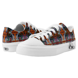 Breath of Fire Red Kundalini Yoga Print by Deprise Low Tops