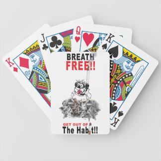 Breathe Free - STOP SMOKING Bicycle Playing Cards