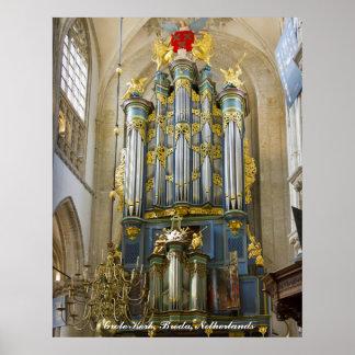 Breda Grote Kerk, Netherlands Print