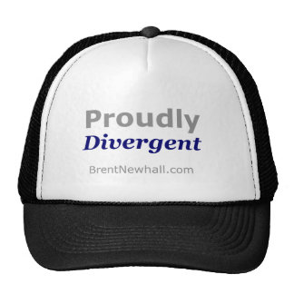 """BrentNewhall.com """"Proudly Divergent"""" Hat"""