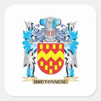 Bretonneau Coat of Arms Square Sticker