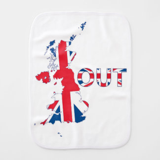BREXIT OUT UNION JACK BURP CLOTH