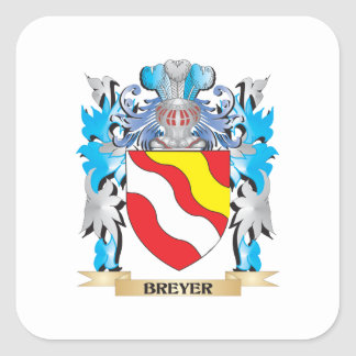 Breyer Coat of Arms Square Stickers