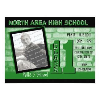Brick 2011 Graffiti / Green Personalized Invitation