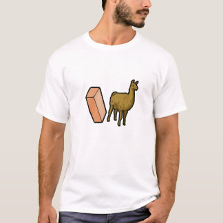 Brick and Llama Plain Tshirt