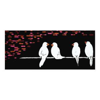 brick bird wall : graffiti wall 10 cm x 24 cm invitation card