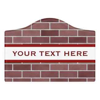 Brick Classic Room Sign