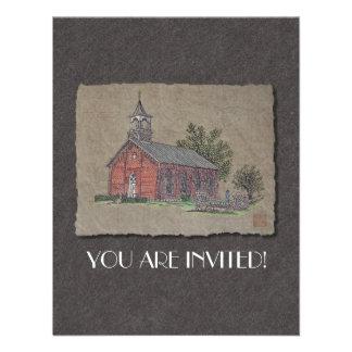 Brick Country Church Personalized Invites