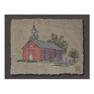 Brick Country Church Post Card