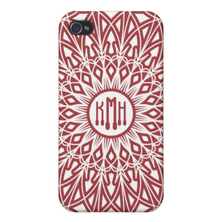 Brick Red Crocheted Lace  iPhone 4/4S Cases