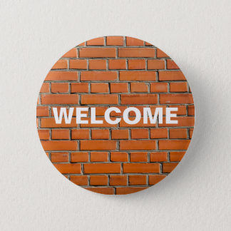 Brick Wall 6 Cm Round Badge