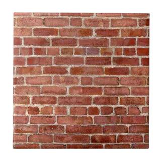 Brick Wall Personalized Graffiti Small Square Tile