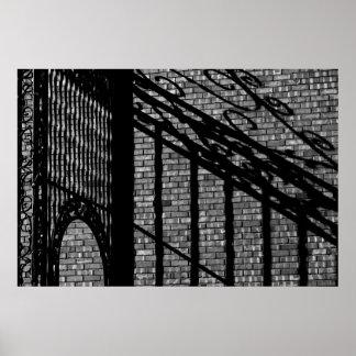 Brick Wall & Shadow Print