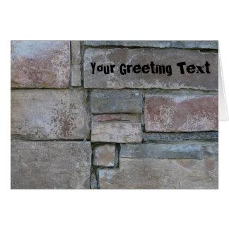 Brickwork for Mason or Brick Layer Card