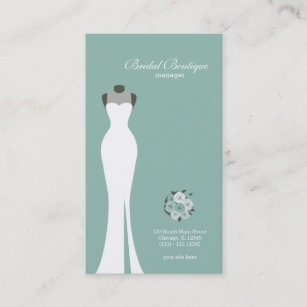 Dress shop wedding business cards zazzle nz bridal boutique choose your background colour business card reheart Gallery