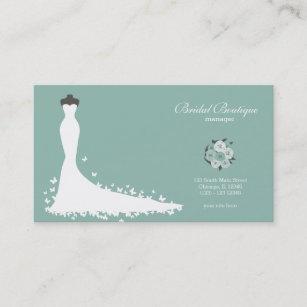 Bridal shop business cards zazzle nz bridal boutique choose your background colour business card reheart Gallery