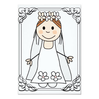 "bridal shower,bachelorette party,edit text 3.5"" x 5"" invitation card"