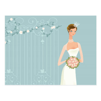 Bridal shower bouquet postcard