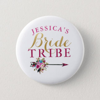 Bridal Shower Bride Badges Bachelorette Tribe Pins