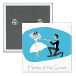 Bridal Shower Favour-Mother of the Groom 15 Cm Square Badge