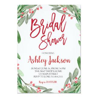 Bridal Shower Greenery Wreath Invitation