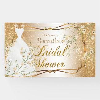 Bridal Shower in Gold Glitter 2 Banner