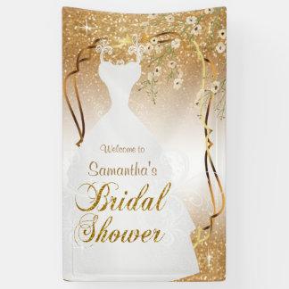 Bridal Shower in Gold Glitter Banner
