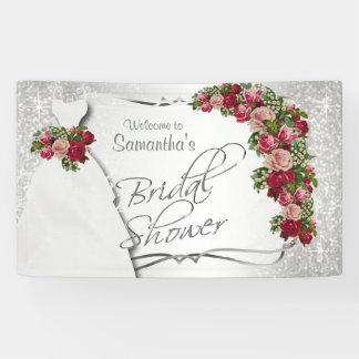 Bridal Shower in White Glitter 2 Banner