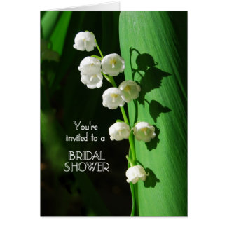 Bridal Shower Invitation Lily of the Valley