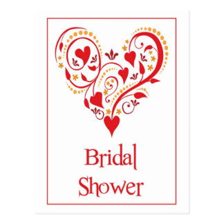Bridal shower invitation postcard