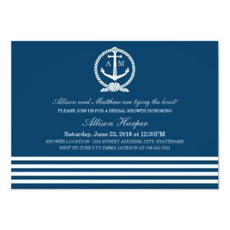 Bridal Shower Invitations | Nautical Stripes Theme