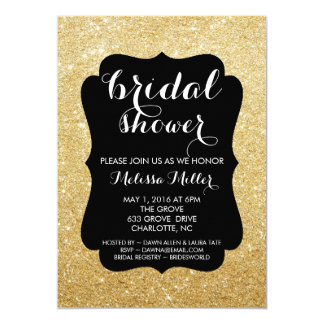Bridal Shower Invite - Glittered