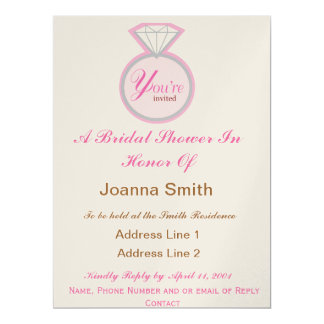 Bridal Shower Invites Brown and Pink