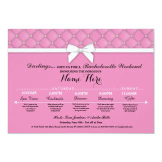 Bridal Shower Itinerary Pink Bachelorette Invite