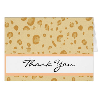 Bridal Shower Peach and Gold Leopard Confetti Greeting Card