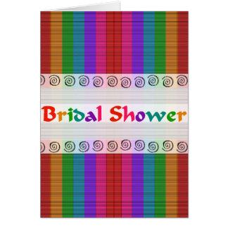 Bridal Shower Rainbow card