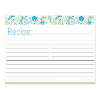 Bridal Shower Recipe Card