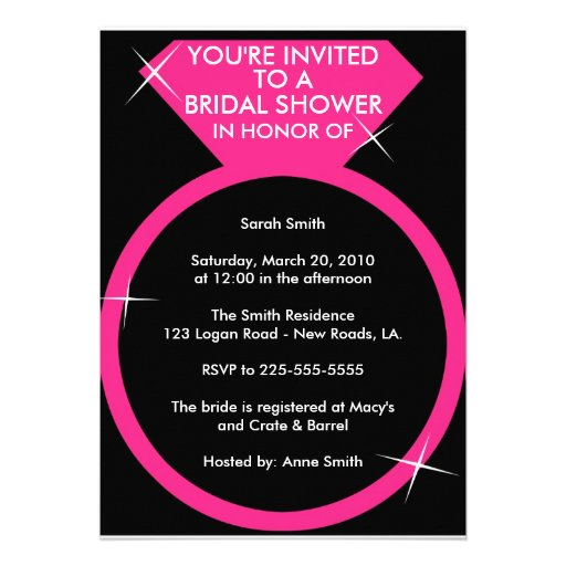 Bridal Shower (Today's Best Award) Custom Invitations