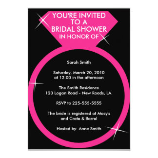 Bridal Shower (Today's Best Award) 13 Cm X 18 Cm Invitation Card