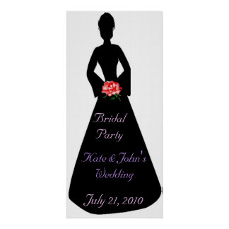 Bridal Silhouette Bridal Party Poster