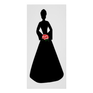 Bridal Silhouette I Poster Posters