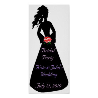Bridal Silhouette III Bridal Party Poster