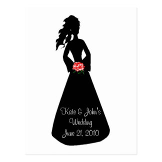 Bridal Silhouette III Postcard