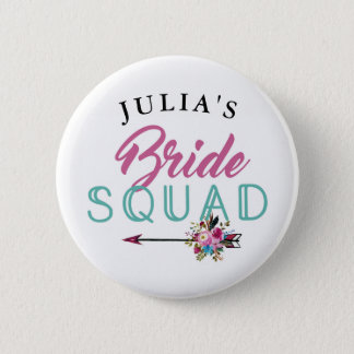 Bridal Squad Bride Badges Bachelorette Tribe Pins