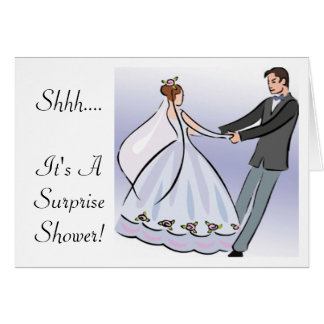 Bridal/Wedding Shower Invitation-It's a Surprise Greeting Card