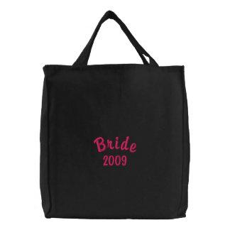 Bride 2009 embroidered tote bag