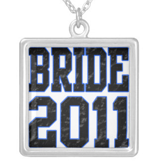 Bride 2011 square pendant necklace